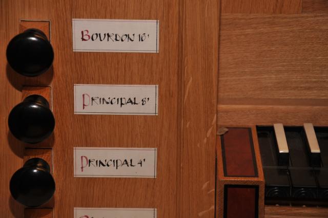 Orgelregisterzüge